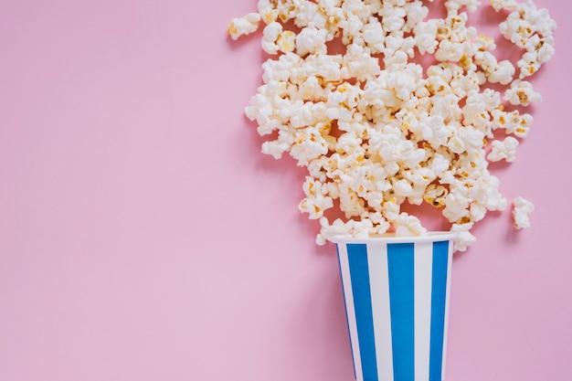 Gestreepte popcorn beker