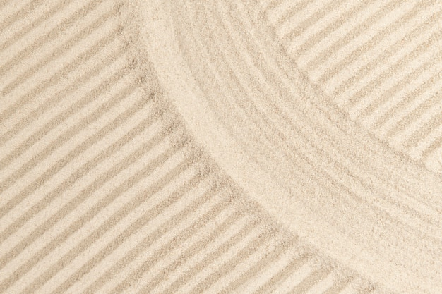 Gestreepte zen zand achtergrond in mindfulness concept