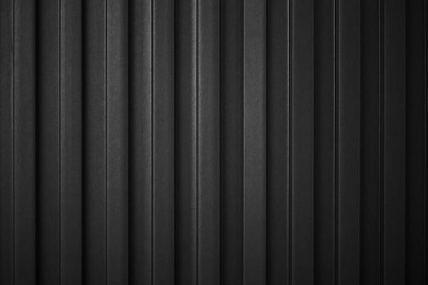 Gestreepte zwarte golf stalen metalen plaat lading container lijn industrie muur structuurpatroon voor achtergrond.