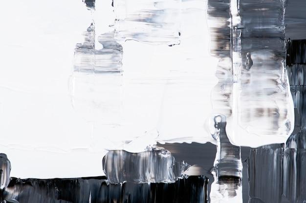 Gestructureerd achtergrondbehang in zwarte verf abstracte kunst