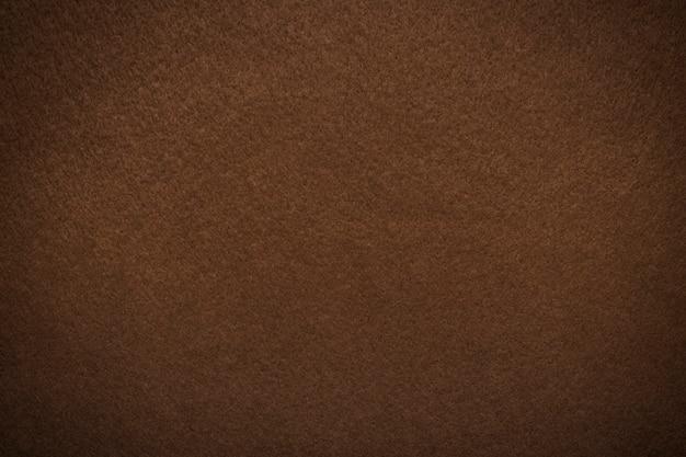 Gestructureerde achtergrond van viltvezel bruin met vignet