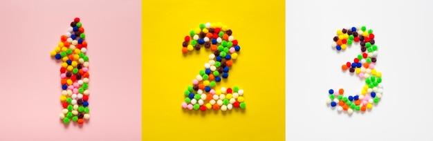 Getallen tellen in wattenbollen