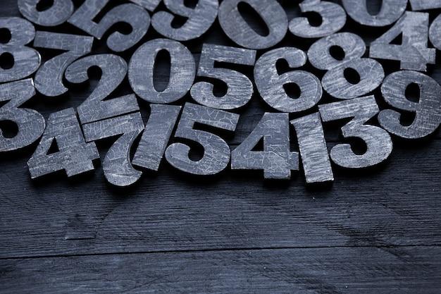 Getallen textuur. financiën gegevens concept. matematic