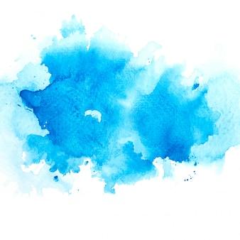 Getekende blauwe aquarel
