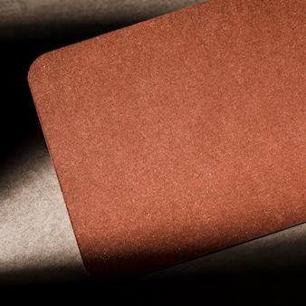 Getextureerde bruin kartonnen close-up
