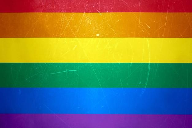 Getextureerde lgbtq-vlag, geschikt voor artikelen over seksuele ongelijkheid en de rechten van de lgbt-gemeenschap. kopieer ruimte.