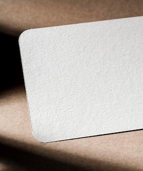 Getextureerde witte kartonnen close-up branding