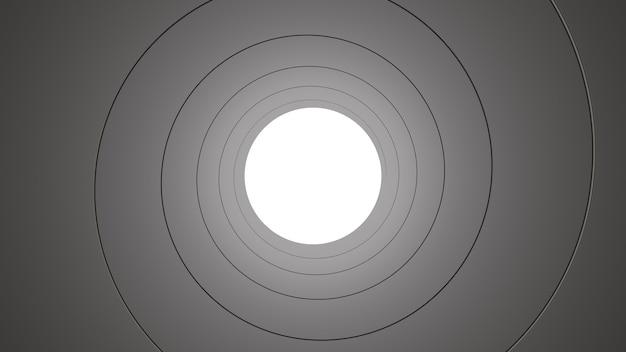 Getrokken pijp tunnel 3d render