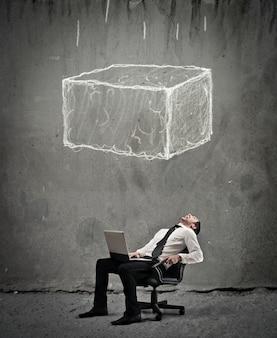 Gevaarlijke situatie in het bedrijfsleven