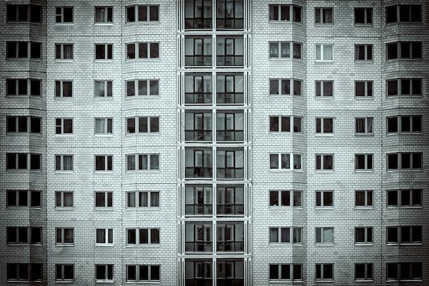 Gevel van een flatgebouw