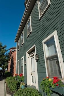 Gevel van een huis, charlottetown, prince edward island, canada