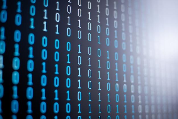 Gevisualiseerd proces voor het weergeven van gegevens op de computer
