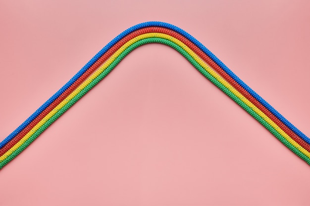 Gevlochten nylon touwen golven vorm