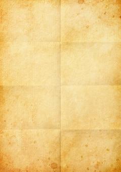 Gevouwen bruin vintage papier achtergrondstructuur