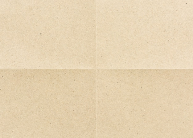 Gevouwen voor vierdelig bruin papier