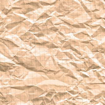 Gevouwen vuile millimeterpapier.