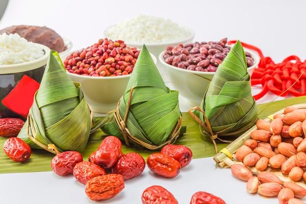 Gevulde gebonden chinees snacks aziatisch heerlijk