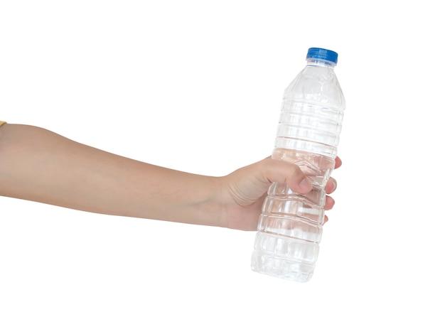 Gewas hand houden fles water
