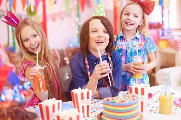 Geweldig feest voor die kinderen