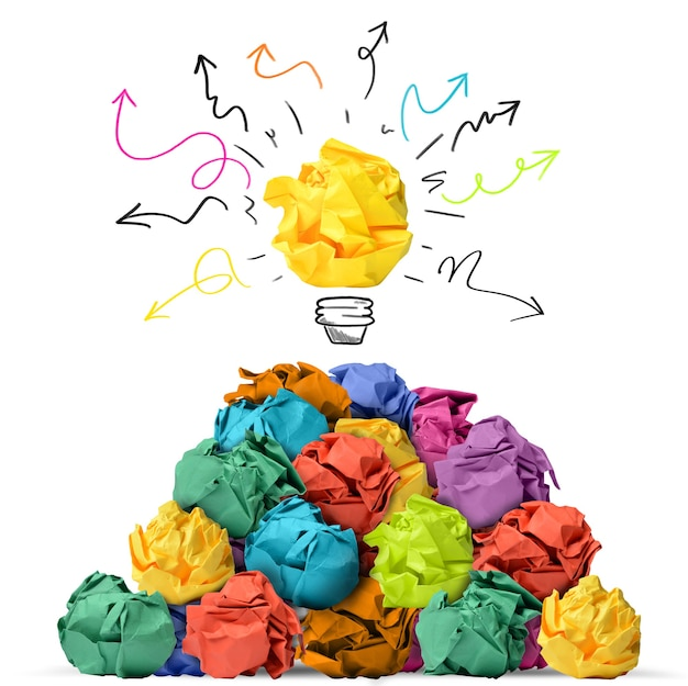Geweldig idee met papieren ballen