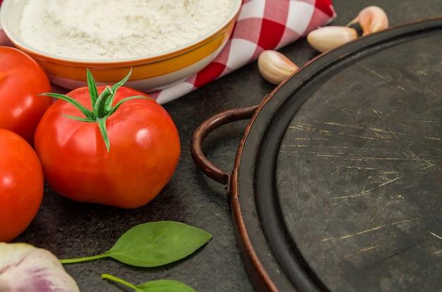 Geweldige achtergrond voor een gastronomisch thema zoals pizza