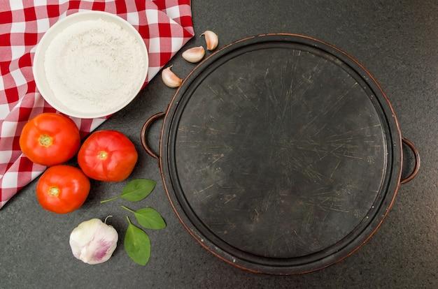 Geweldige achtergrond voor gastronomisch thema zoals pizza, met kopie ruimte