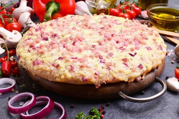 Geweldige italiaanse pizza