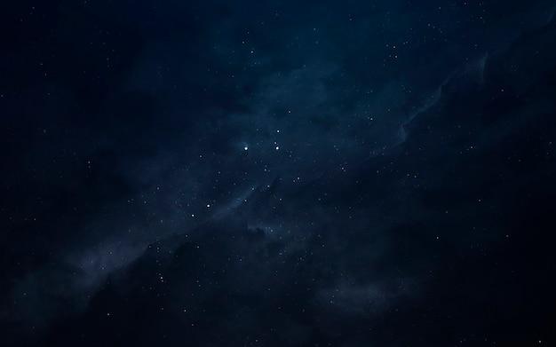Geweldige nevels in de verre ruimte. sterrenvelden van eindeloze kosmos. elementen van deze afbeelding geleverd door nasa