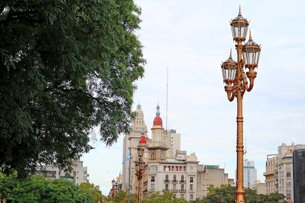 Geweldige skyline van het centrum van buenos aires, argentinië, zuid-amerika