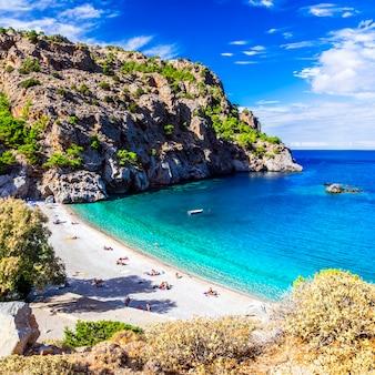 Geweldige stranden van griekse eilanden.
