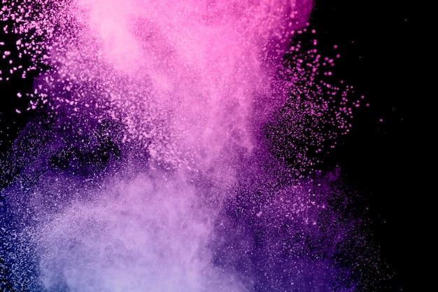 Geweldige vliegende kleurrijke kleurstofwolk