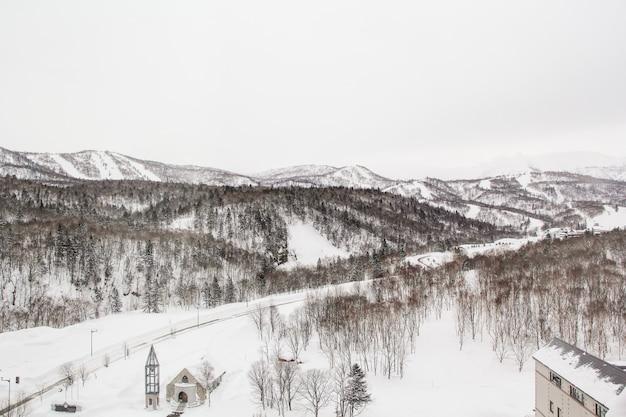 Geweldige winter hokkido van toerisme en fotografie.