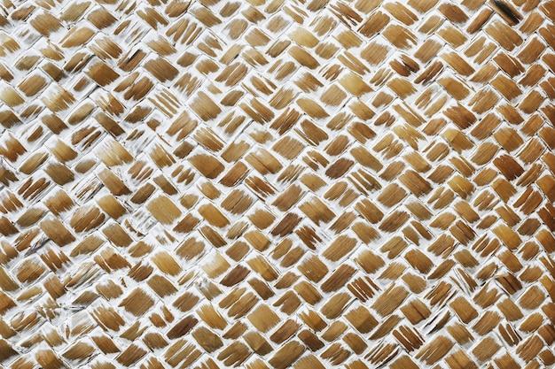 Geweven bruin hout met structuur