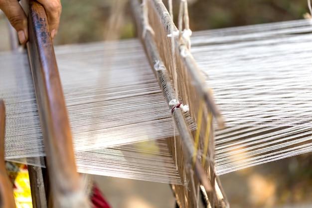 Geweven stoffen noordelijke gemeenschappen van chiang mai, kopieer ruimte.