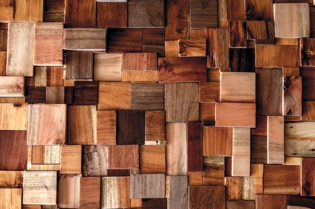 Geweven van houten kubusgebruik als achtergrond voor multifunctionele vormtextuur