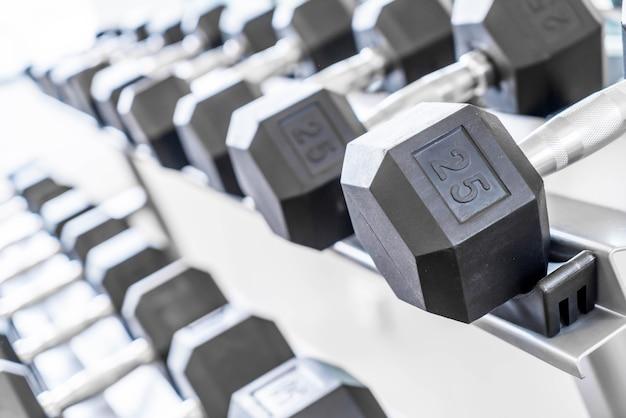 Gewicht in de fitnessruimte