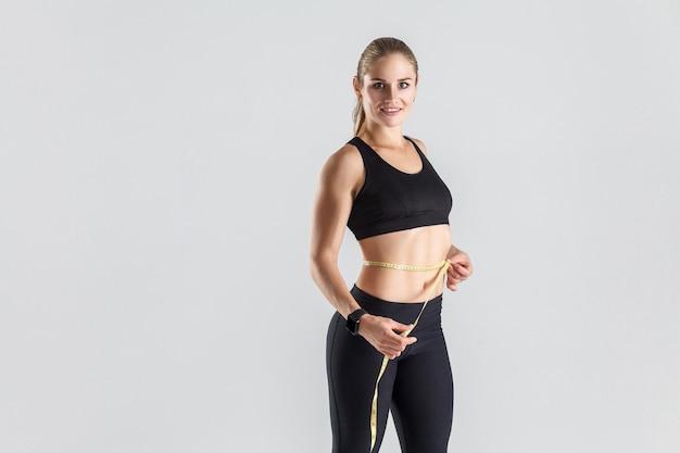 Gewichtsverlies concept ideaal figuur en buik