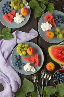 Gewichtsverlies, salade, breakstone, ontbijt, toast, dieet, lunch, parfait, ananas, gezond ontbijt, jello, bodybuilding