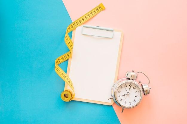 Gewichtsverlies samenstelling met klembord