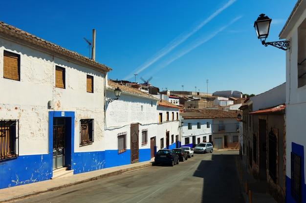 Gewone straat van campo de criptana. spanje