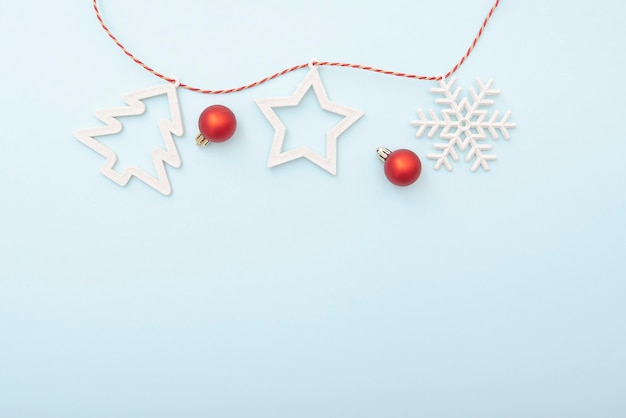 Gewoon kerstlay-out, winter wenskaart