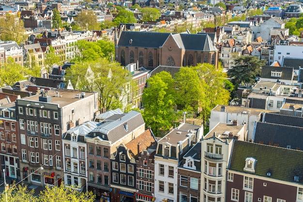 Gezicht op amsterdam, nederland