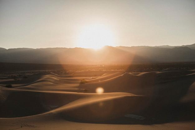 Gezicht op death valley in californië, verenigde staten