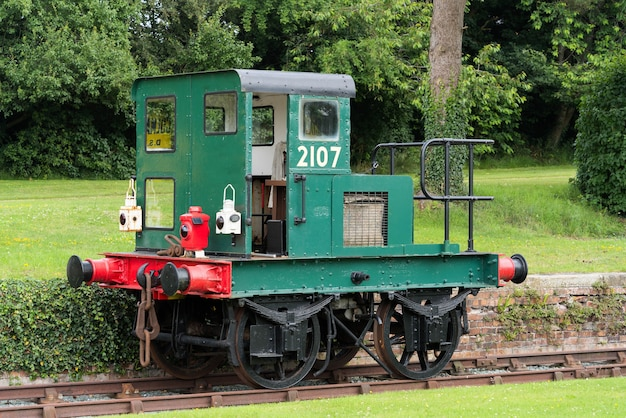 Gezicht op een oud spoorwegvoertuig in bettisfield, clwyd, wales