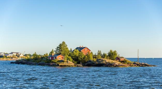 Gezicht op ryssansaari, een klein eiland bij helsinki