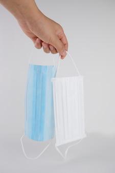 Gezichtsmasker bescherming virus, griep en coronavirus covid