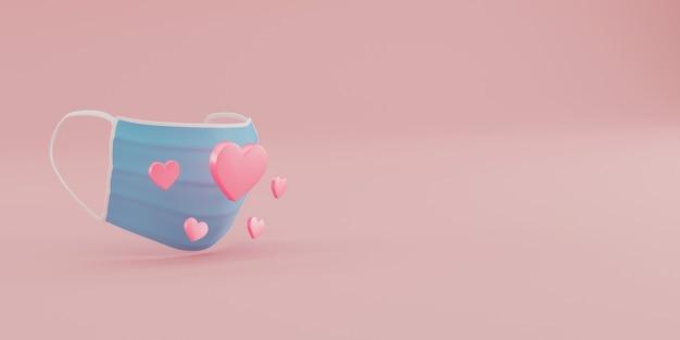 Gezichtsmasker met hartvorm.