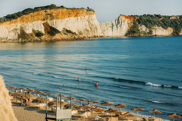 Gezichtspunt van het strand van gerakas op het eiland zakynthos