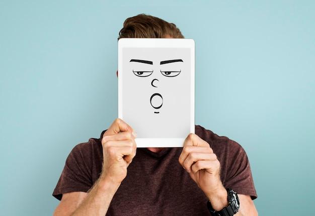 Gezichtsuitdrukking emotionele mensen concept