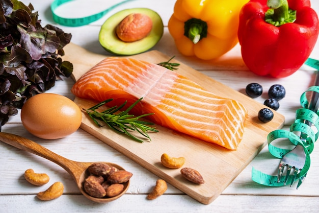Gezond eten voedsel koolhydraatarm, ketogene voeding